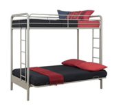 DHP Twin over Futon Low Loft Bed with Built-In Ladder in Fort Carson, Colorado
