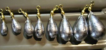 Bass Casting Sinkers; Assorted Sizes in Fort Leonard Wood, Missouri