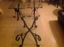 Metal and glass 3 Piece Table Set - $80 (Sarasota) in MacDill AFB, FL