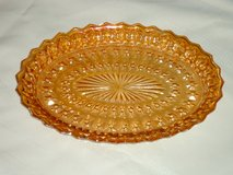 vintage carnival glass platter in Bolingbrook, Illinois
