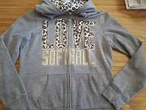 Justice Love Softball zip-up jacket size 12 in Bolingbrook, Illinois