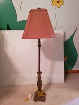 """set of 36"""" lamps with coral colored shade in Joliet, Illinois"""