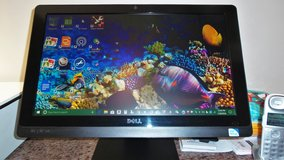 DELL INSPIRON 2020 ALL IN ONE COMPUTER WITH WINDOWS 10 and HP 7510 Photo Smart Printer. in Macon, Georgia