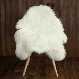 Sheepskin Faux Fur Chair Cover/ Rug /Seat Pad/ Area Rugs For Bedroom Ivory Color in Fort Drum, New York