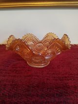 SMALL ORANGE CARNIVAL GLASS BOWL in Fort Campbell, Kentucky