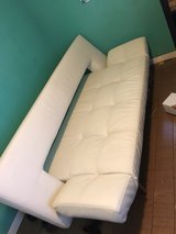 Wing Deluxe Sofa (white leather) in Pasadena, Texas