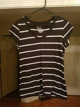 black and white striped v-neck shirt in Fort Campbell, Kentucky