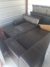 Leather Sofa 2pc Black in Fort Benning, Georgia