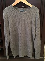 LIKE NEW Boys Ralph Lauren Gray Cable Knit Sweater Size 10-12 in Westmont, Illinois