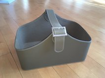 Olive Green Storage Basket Bin Tote with handle and buckle - very nice! Large! in Oswego, Illinois