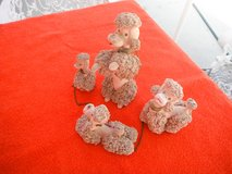 Family of Ceramic Poodles in Yucca Valley, California
