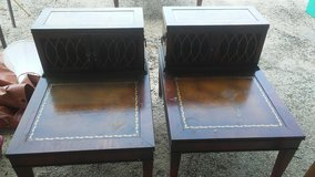 Matching Corner Table & Pair of End Tables with Leather in Fort Polk, Louisiana