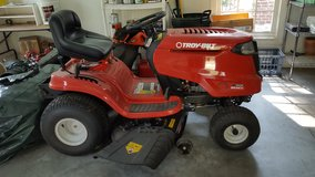 TroyBilt Riding mower with twin bagger attachment in Beaufort, South Carolina