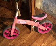 Yvolution Y Veloras Jr Girls pink walking balancing bike in Aurora, Illinois