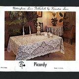 "VTG Scranton Lace ""PICARDY"" Cotton Tablecloth, Ivory 60 x 80"" in Naperville, Illinois"