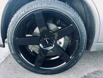 """22"""" New Black Status Alloy rims and tires in Fort Carson, Colorado"""