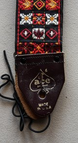 Rare ORIGINAL Owner's Ace Guitar Strap From 1967 in Oswego, Illinois