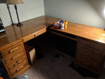 Large L-shaped desk and bookshelf in Aurora, Illinois