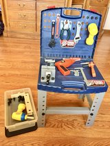 Childs Toolbox Play set w/Realistic Tools in Naperville, Illinois