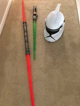 Star Wars The Clone Wars Clone Trooper Voice Changer With Lightsabers in Kingwood, Texas