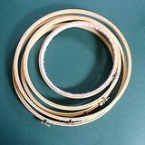 "5 VTG WOOD EMBROIDERY HOOPS Screw Tension 8"" 10"" 12"" in St. Charles, Illinois"