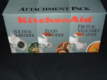 KitchenAid Attachment Pack Model FPPA NEW Slicer Grinder Strainer in Chicago, Illinois