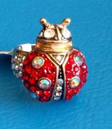Kirk's Folly Red Ladybug Ring Sz 7 in Chicago, Illinois