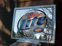 """MILLER LITE MIRRORED BEER SIGN 52"""" X 40"""" NEW OLD STOCK in Chicago, Illinois"""