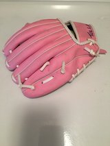 Pink child baseball glove in Oswego, Illinois