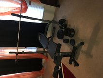 Weight bench. Slightly used in Fort Polk, Louisiana