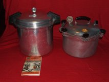 Vintage Aluminum Pressure Cookers All-American 15.5qt Mirro-Matic 22qt in Glendale Heights, Illinois