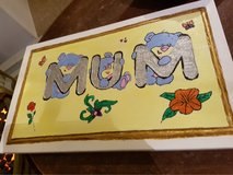 home made wooden plaques in Lakenheath, UK