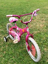 Girls Bike with training wheels in The Woodlands, Texas