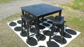 Wood Table with 3 Stools in Fort Polk, Louisiana