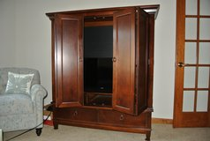 media cabinet made of high quality solid wood in Orland Park, Illinois