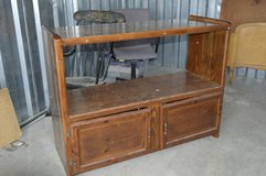 Solid wood entertainment stand in Camp Lejeune, North Carolina