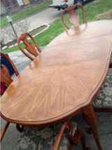 8 pc Queen Anne Dining Table in Spring, Texas