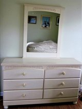 Queen headboard, dresser and mirror, Queen Frame and Queen mattress and Box Springs in Beaufort, South Carolina