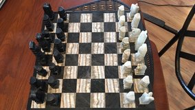 marble chess game set in Fort Riley, Kansas
