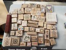 Different wood stamps in Travis AFB, California