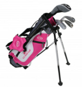 Left Handed Kids 4-Club Stand Bag Pink/White/Grey in Glendale Heights, Illinois