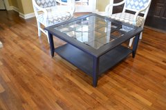 coffee table 40 x 40 dark navy . solid wood table. really nice in Naperville, Illinois