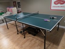 Spalding Ping Pong Table - Folding with Wheels in Glendale Heights, Illinois