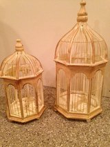 Decorative wooden bird cages in Bolingbrook, Illinois