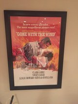 Gone with the Wind Framed Movie Poster in Bolingbrook, Illinois