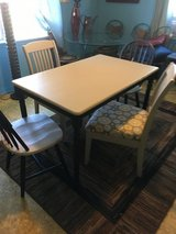 """Table 4 chairs gray black 3o""""wide 48"""" long in Cleveland, Texas"""