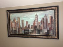 "City Scape Framed Painting - 55"" WIDE X 31"" TALL in Glendale Heights, Illinois"