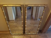 Rustic matching gold antique mirrors in Lockport, Illinois