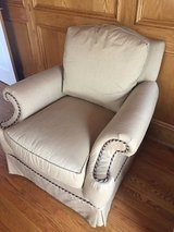 2 Walter E Smithe Custom Made Club Chairs - Camel Colored with Piping in Glendale Heights, Illinois