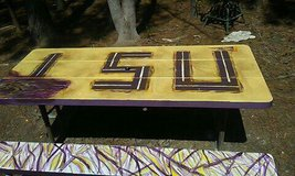 LSU. Picnic Table in Leesville, Louisiana